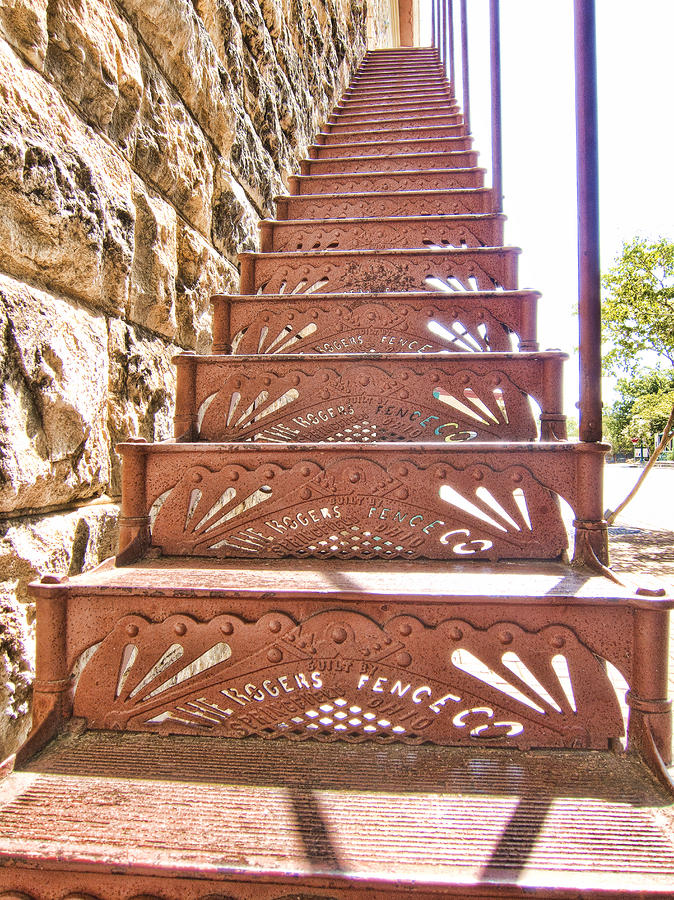 Stairway Photograph - Built By The Rogers Fence Co by Douglas Barnard
