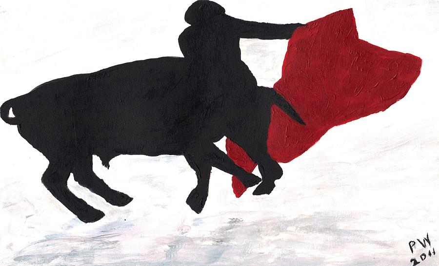 Bull Fighter Painting