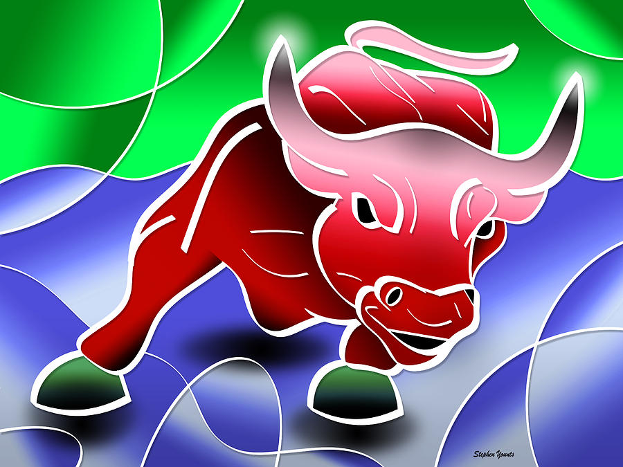 Bull Market Digital Art