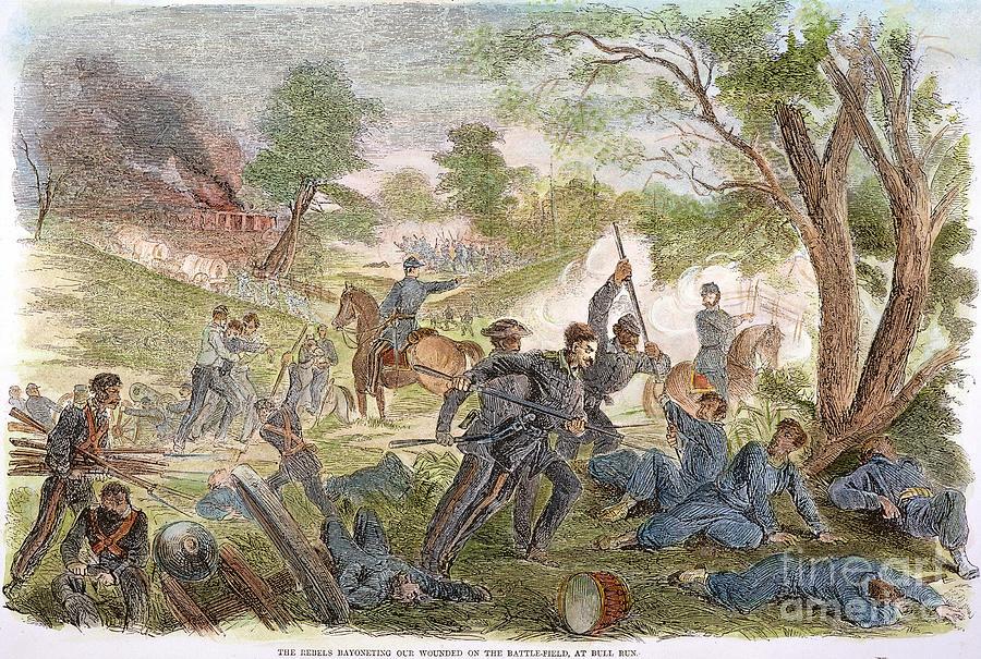 Bull Run: Rebel Bayonets Photograph