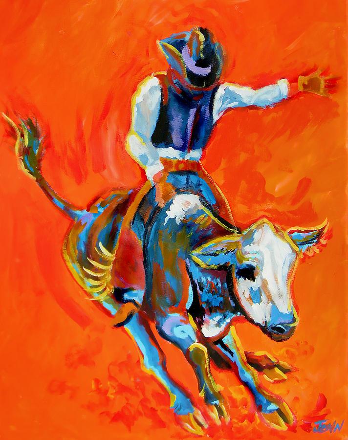 Bullrider Painting