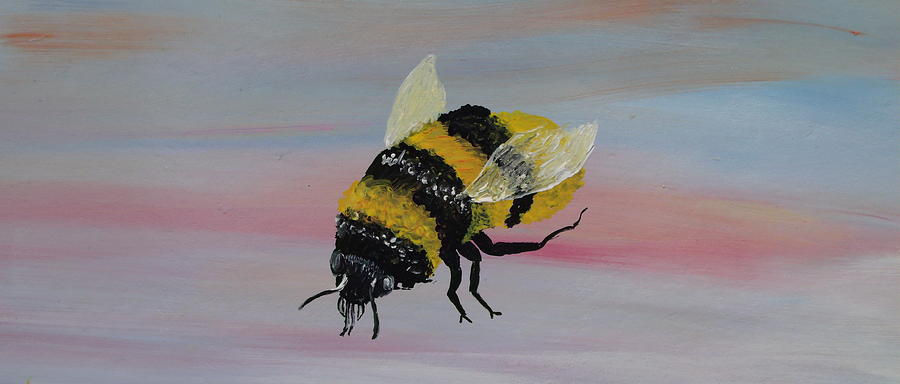 Bumble Bee Painting  - Bumble Bee Fine Art Print