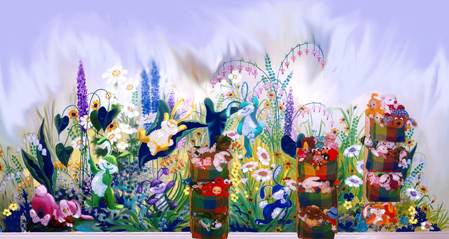 Bunny Mural Painting