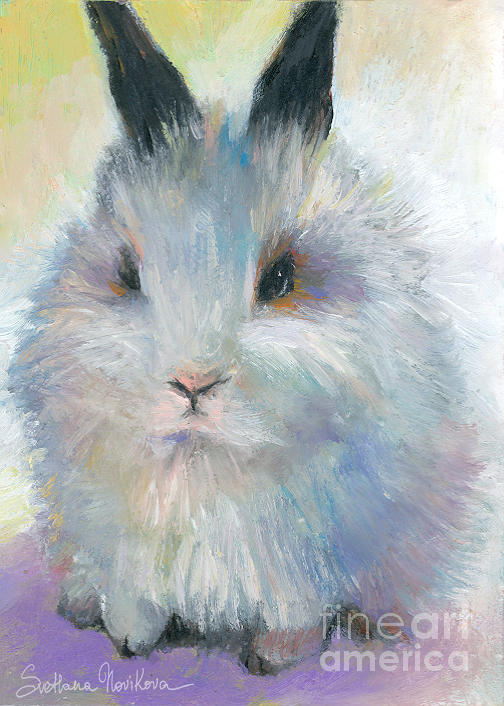 Bunny Rabbit Painting Painting  - Bunny Rabbit Painting Fine Art Print