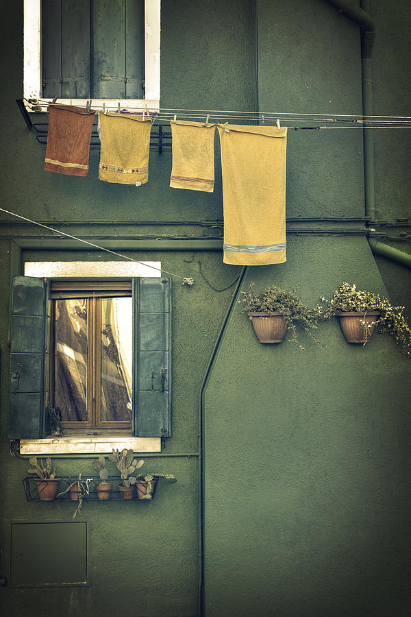 Burano - Green House Photograph  - Burano - Green House Fine Art Print
