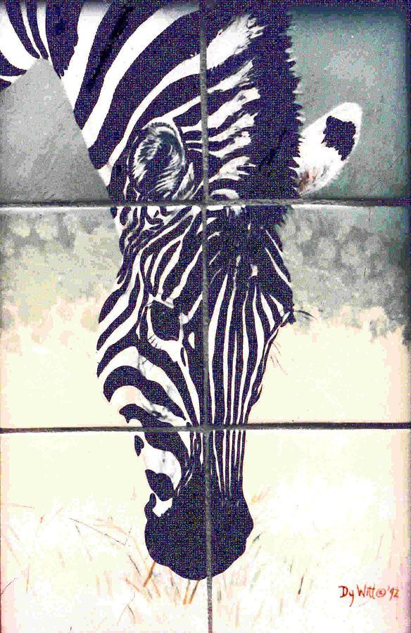 Burchells Zebra Colt Painting