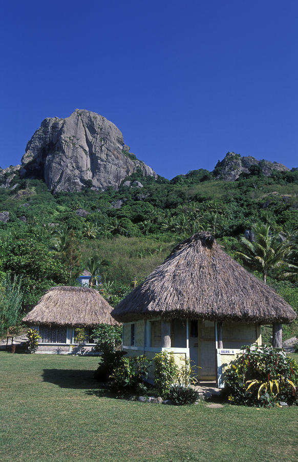Bure Huts And Vatu Vula Peak Photograph