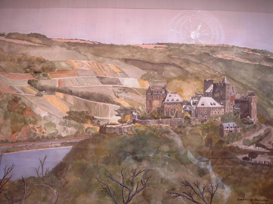 Burg Schoenburg Oberwesel - Rhine River Castel Painting