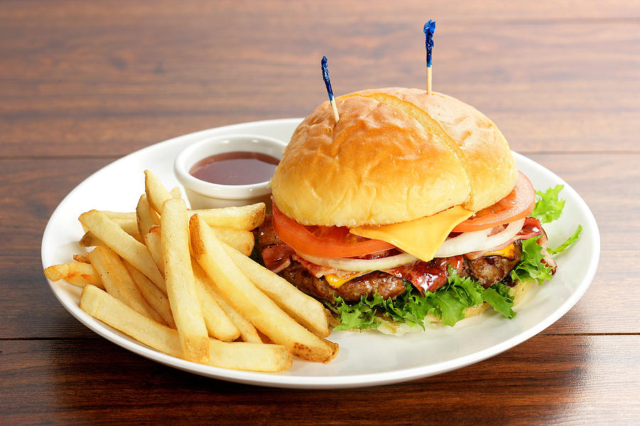 Burger And Fries is a photograph by Multi-bits which was uploaded on ...