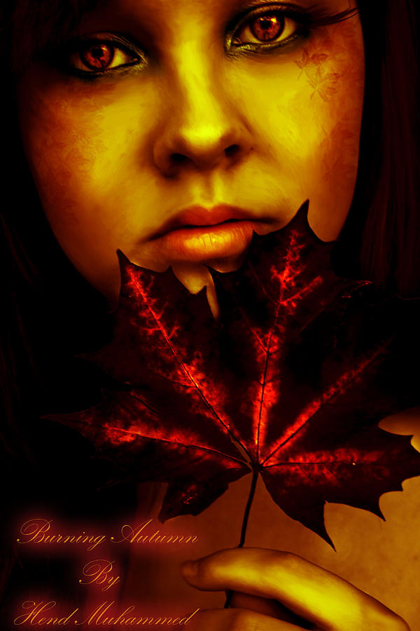 Burning-autumn Digital Art  - Burning-autumn Fine Art Print
