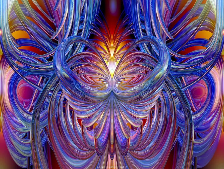Burning Heart Of Desire Fx  Digital Art  - Burning Heart Of Desire Fx  Fine Art Print