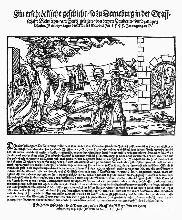 Burning Of Witches, 1555 Photograph