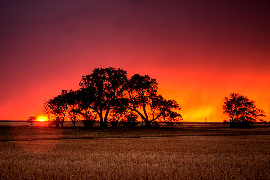 Burning Sunset Photograph