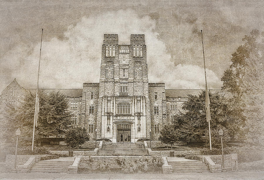 Burruss Hall Series II Photograph  - Burruss Hall Series II Fine Art Print