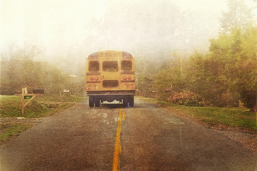Bus Photograph - Bus Stop by Kathy Jennings