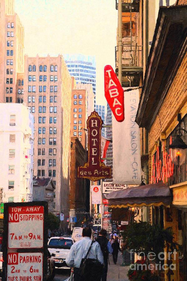 Bush Street In San Francisco Photograph