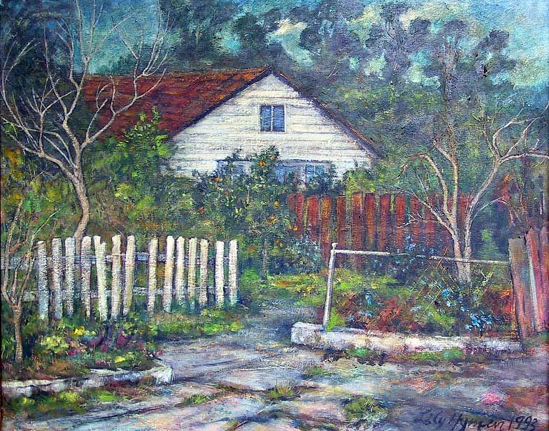 Bushy Old House Painting  - Bushy Old House Fine Art Print