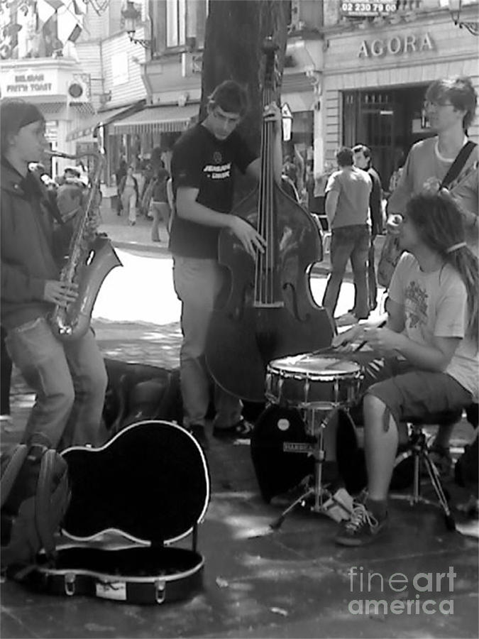 Busking Brussels Photograph
