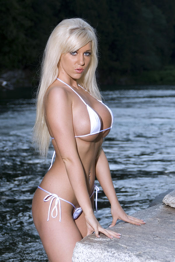 Busty Blonde bikini model Photograph - Busty Blonde bikini model Fine Art ...