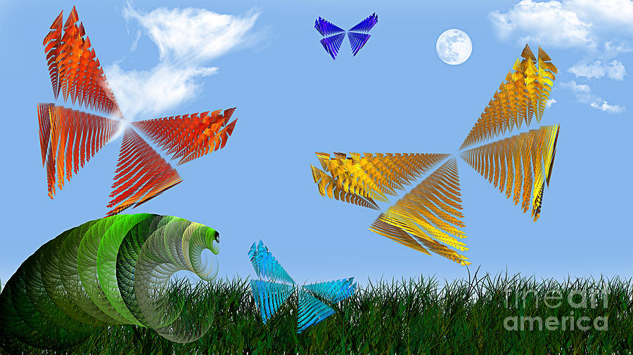 Butterflies Are Free To Fly Digital Art