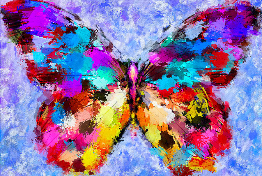 Butterfly 2 Digital Art  - Butterfly 2 Fine Art Print