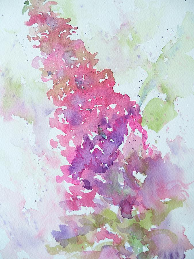 Butterfly Bush Plein Air Painting  - Butterfly Bush Plein Air Fine Art Print
