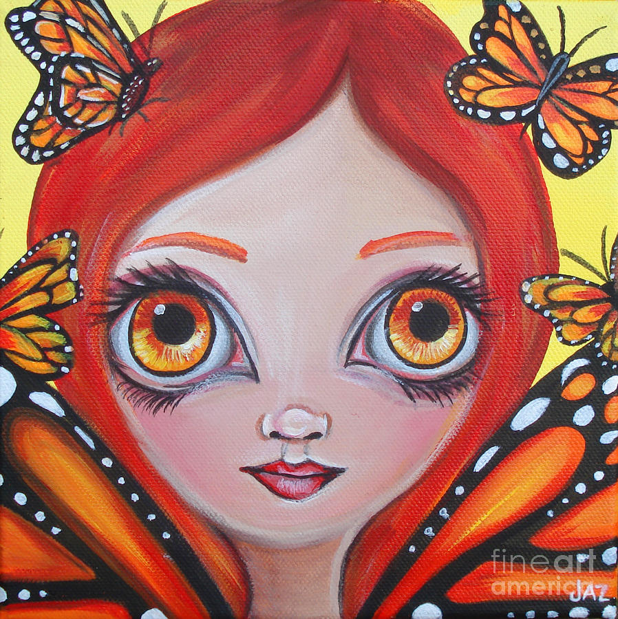 Butterfly Fairy Painting  - Butterfly Fairy Fine Art Print