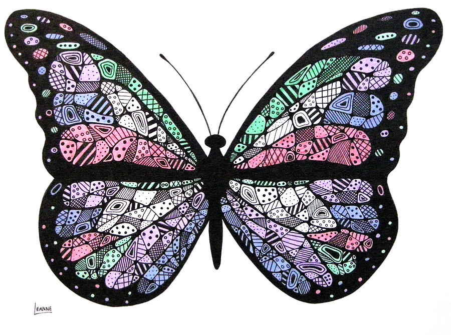 Butterfly Drawing By Leanne Karlstrom