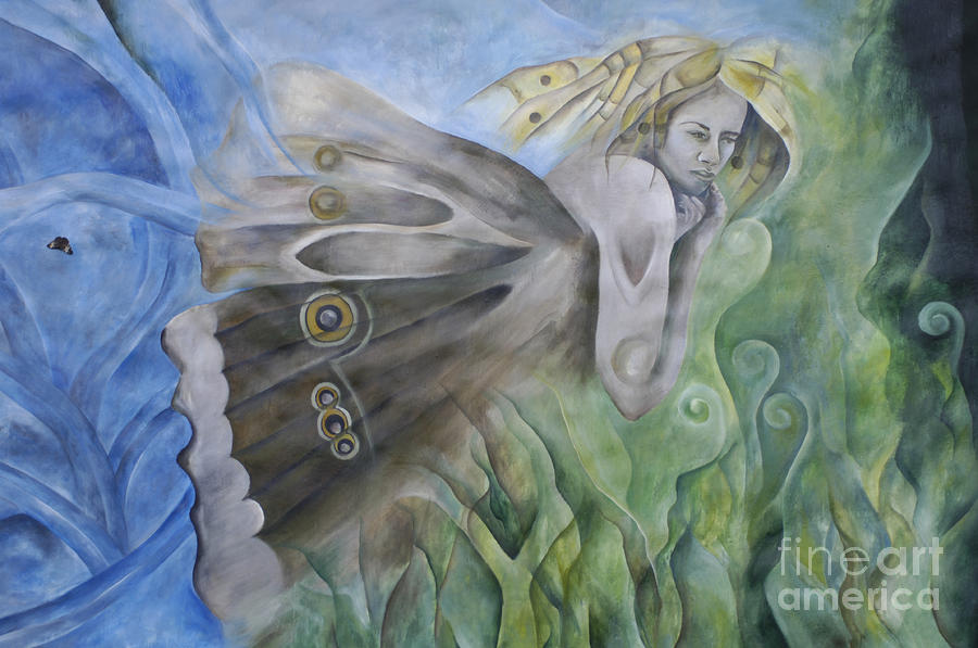 Butterfly Woman Costa Rica Photograph  - Butterfly Woman Costa Rica Fine Art Print
