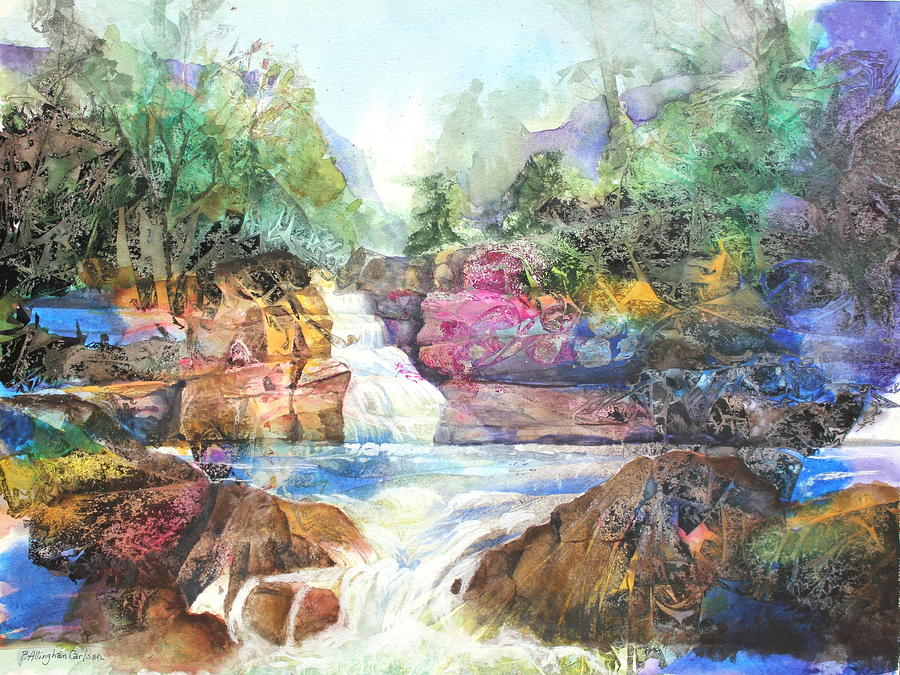 Buttermilk Falls IIi Painting  - Buttermilk Falls IIi Fine Art Print