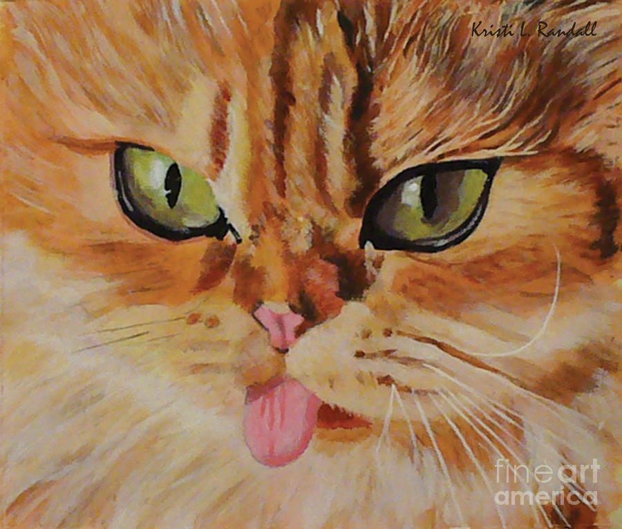 Butterscotch Cute Orange Cat Face Painting