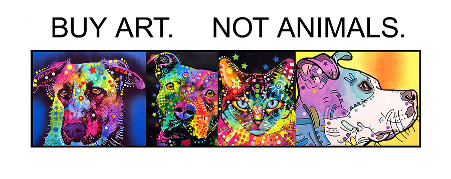 Buy Art Not Animals Painting  - Buy Art Not Animals Fine Art Print