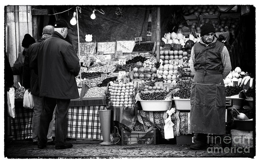 Buying Fruit Photograph  - Buying Fruit Fine Art Print