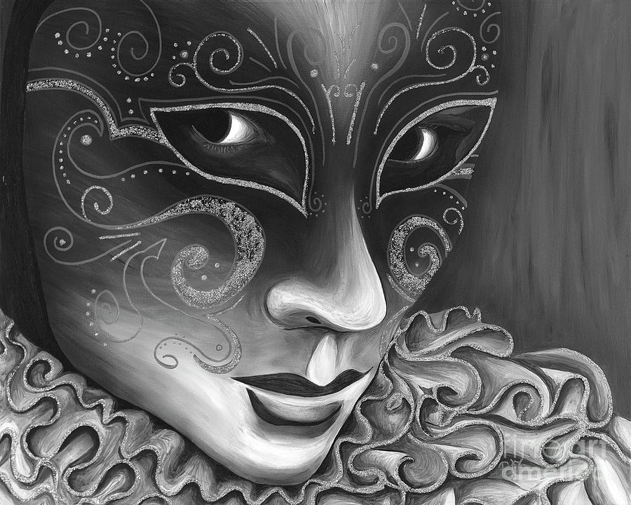 Bw- Carnival Mask Painting