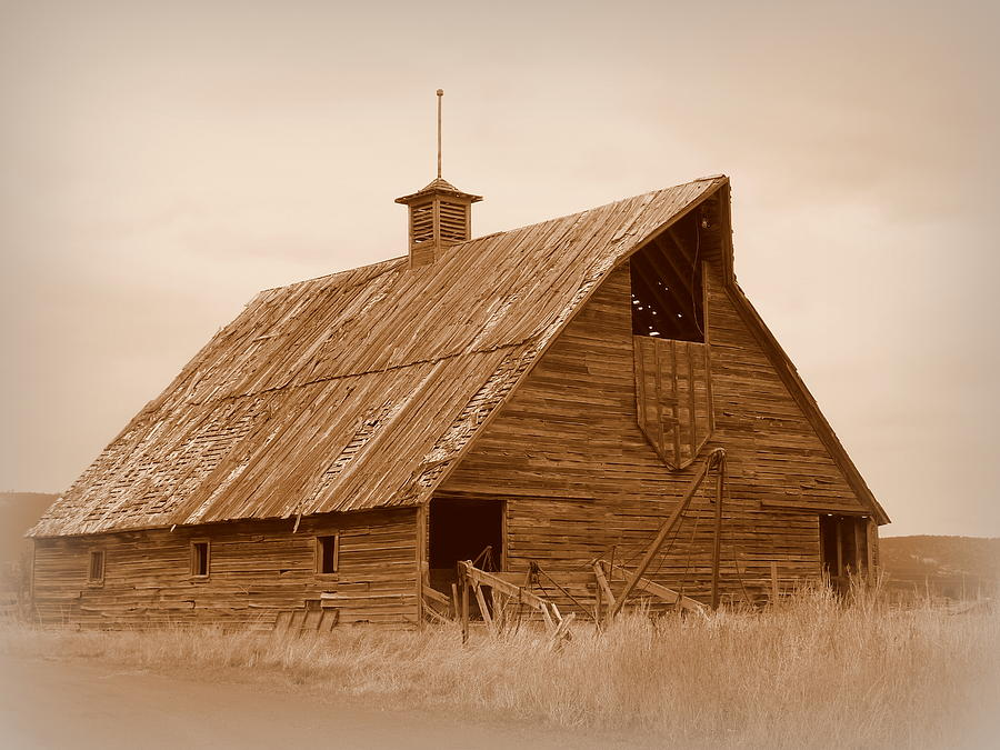 Bygone Days Barn Photograph  - Bygone Days Barn Fine Art Print