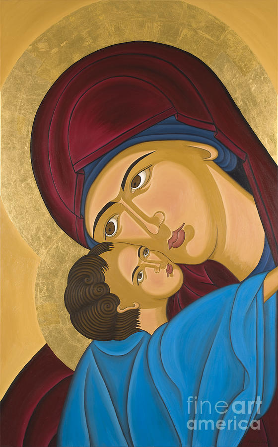 Byzantine Art Mother Love Painting  - Byzantine Art Mother Love Fine Art Print