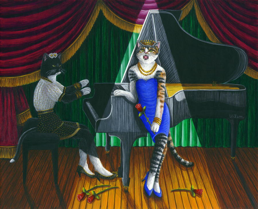 Cabaret Cats Painting