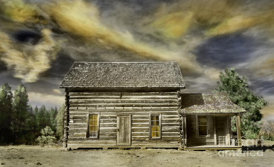 Cabin And Sky Photograph  - Cabin And Sky Fine Art Print