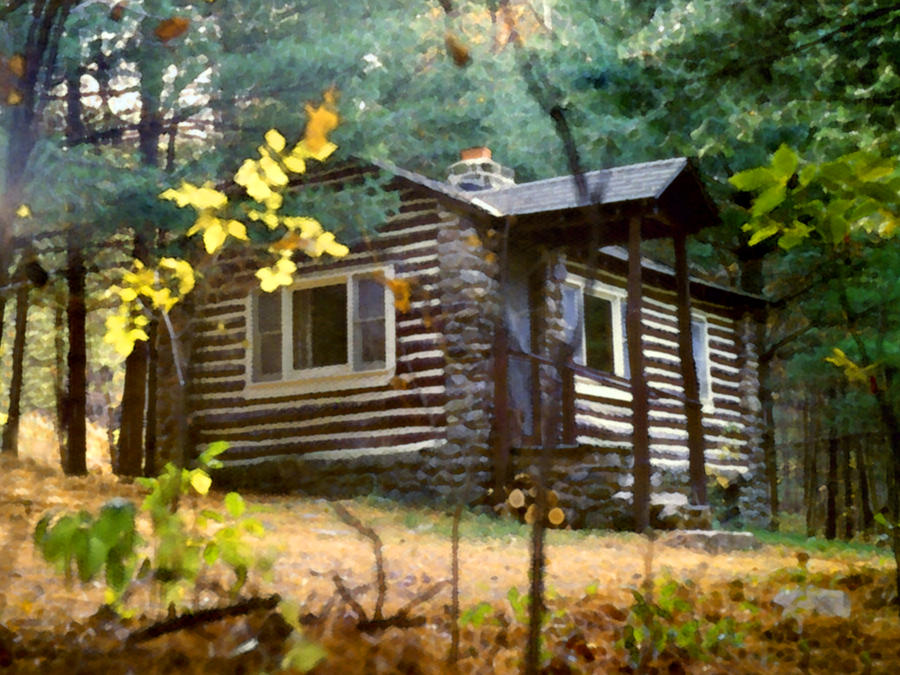 Some Place Simple I Would Like To Live In Log Cabin