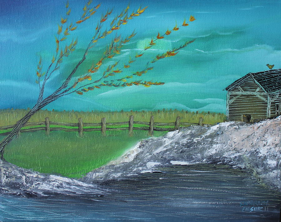 Cabin Painting - Cabin by Shadrach Ensor