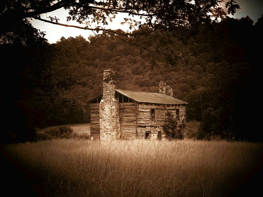 Cabin Thru The Trees Photograph  - Cabin Thru The Trees Fine Art Print