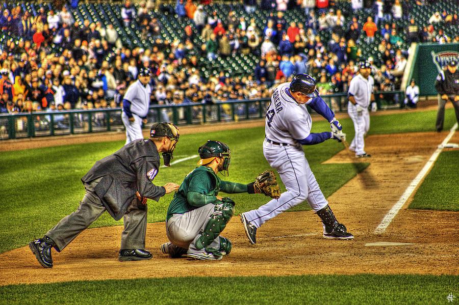Cabrera Photograph - Cabrera Grand Slam by Nicholas  Grunas