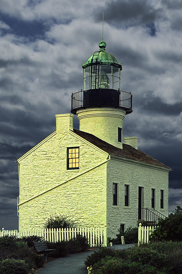 Cabrillo National Monument Lighthouse No 1 Photograph  - Cabrillo National Monument Lighthouse No 1 Fine Art Print
