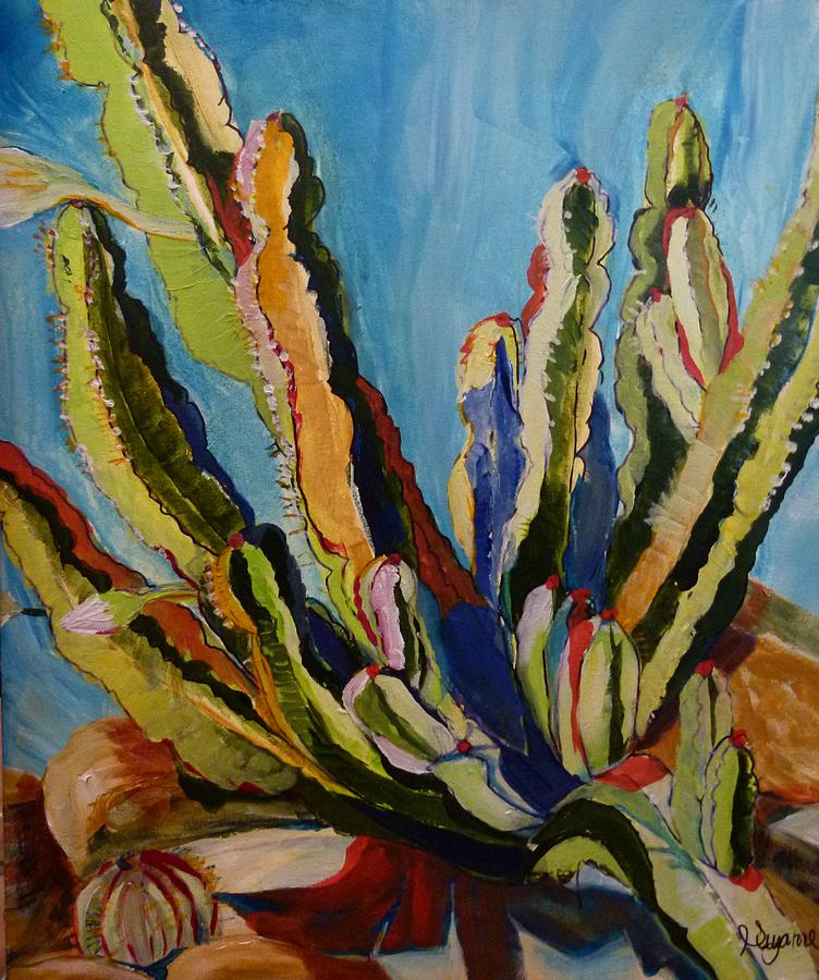 Cactus In The Sun Painting  - Cactus In The Sun Fine Art Print