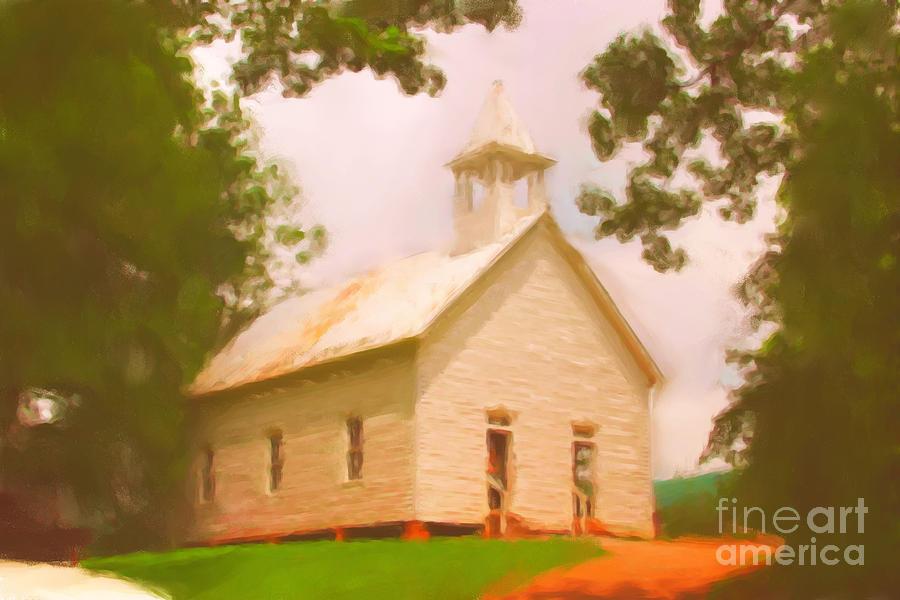 Cades Cove Church Digital Art