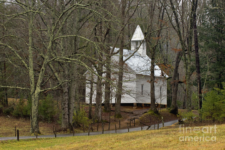 Cades Cove Methodist Church - D007905 Photograph  - Cades Cove Methodist Church - D007905 Fine Art Print
