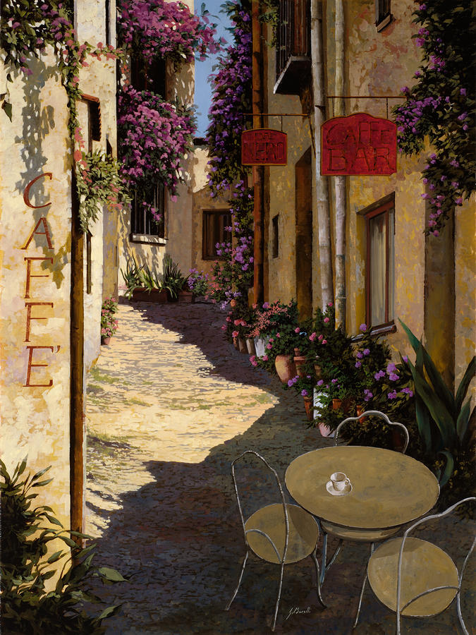 Cafe Piccolo Painting  - Cafe Piccolo Fine Art Print
