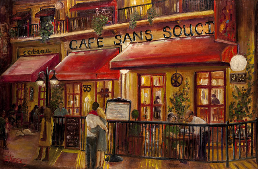 Paintings In Cafe La Flore
