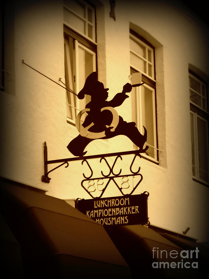 Cafe Sign In Holland Photograph