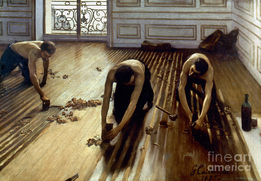 Caillebotte: Planers, 1875 Photograph